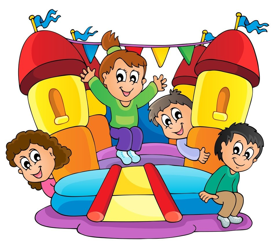 Bounce House Clip Art drawing