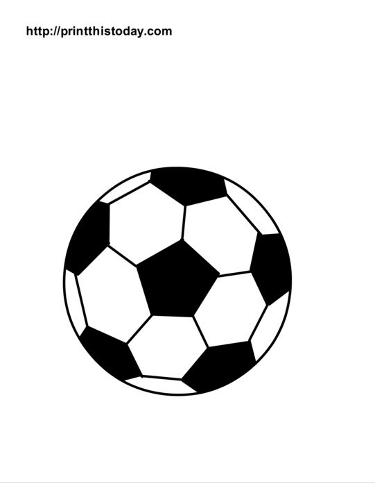 Soccer Ball Coloring Page Free Image