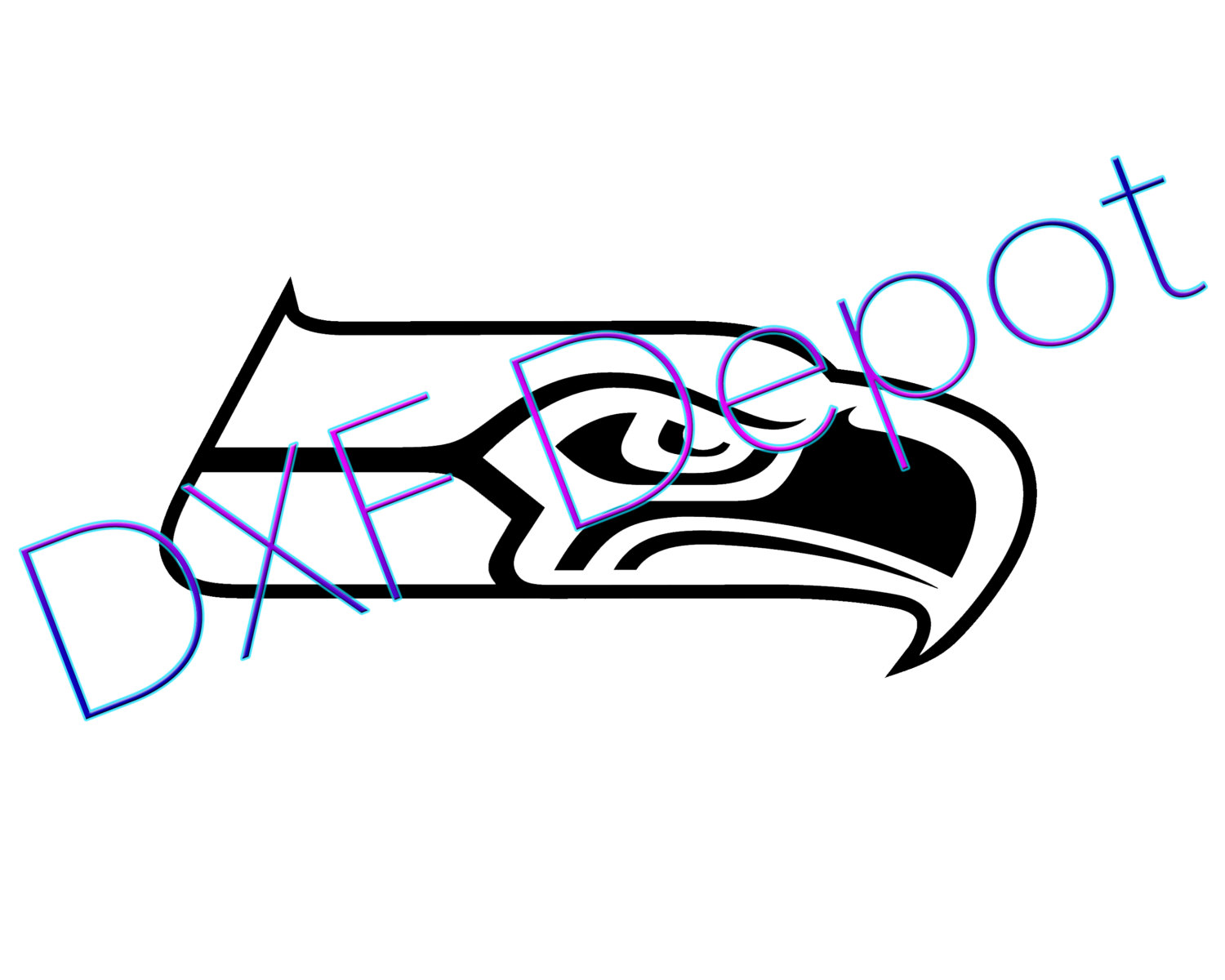Seattle Seahawks Nfl Football Dxf Format Cnc Cut By Dxfdepot