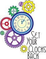 clipart of the colorful clocks and Gentle Reminder