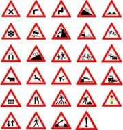 Traffic Street Road Signs At Clkercom Vector clipart