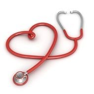 red stethoscope as a picture for clipart