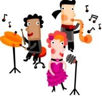 Clip art of talent show