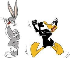 Cartoon characters from \