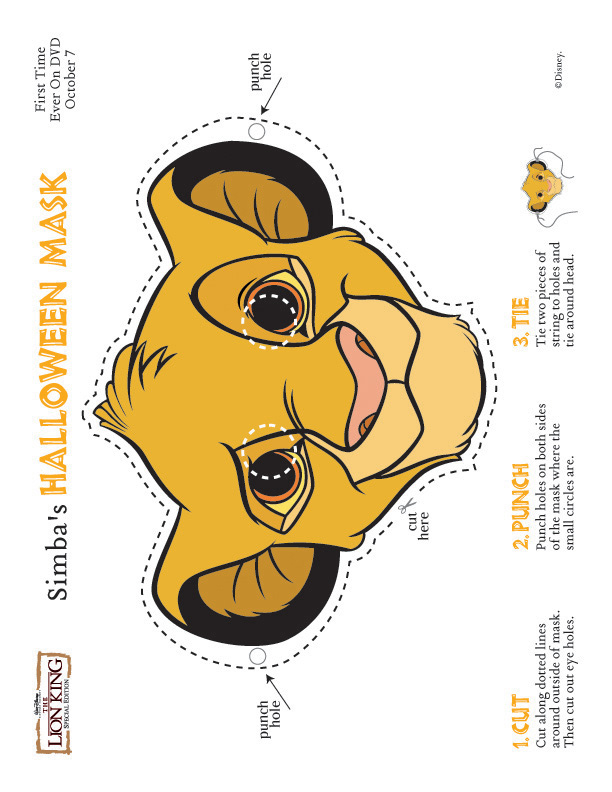 This is an image of Printable Lion Masks with simple culture