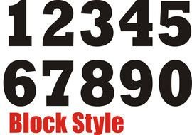 black numbers for clipart