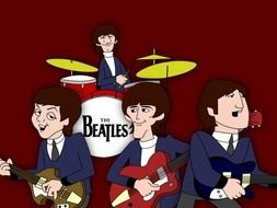 Beatle Group as a graphic illustration