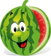 Clipart of happy Watermelon