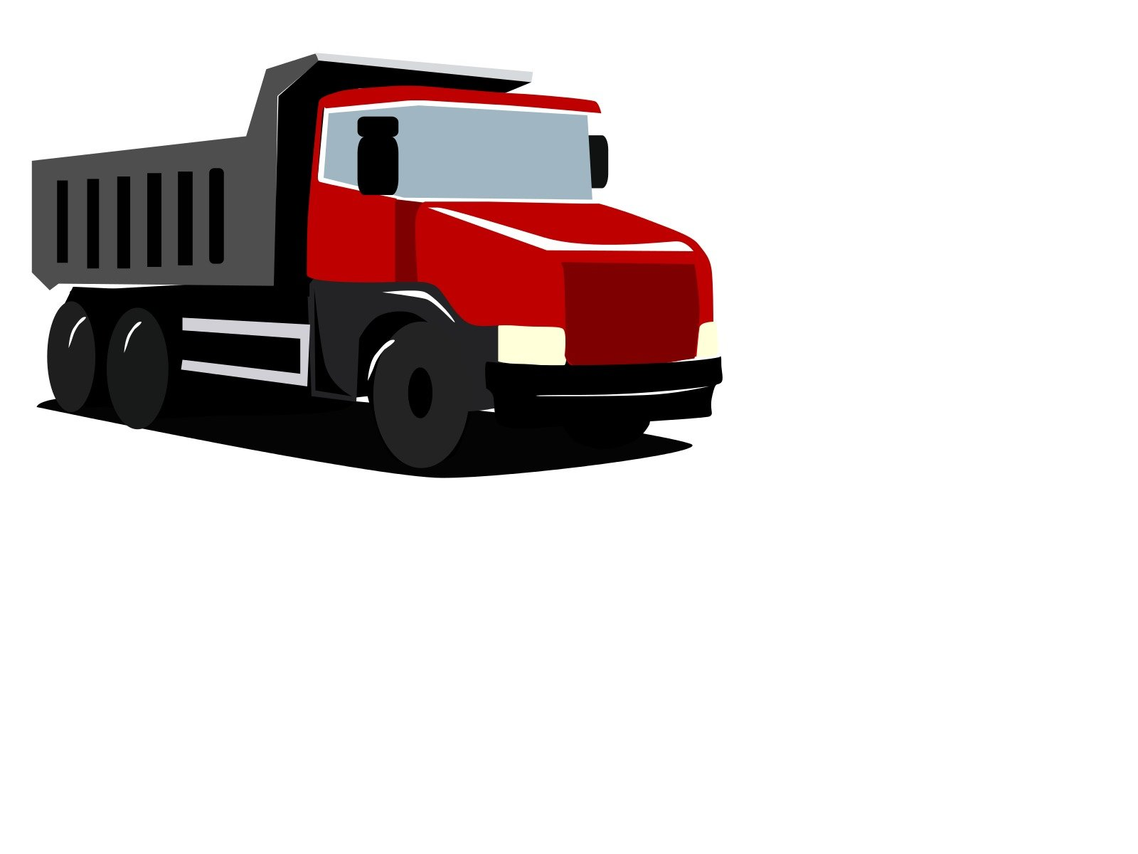 isolated red truck