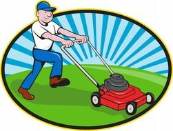 Clipart of Lawn Mower Man