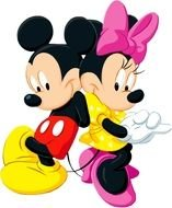 photo portrait of Mickey Mouse and Minnie