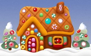 \ Christmas Gingerbread House drawing