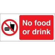 No Food Or Drink Signs drawing