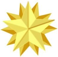 golden multifaceted star as a graphic illustration
