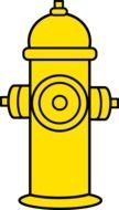 Yellow Fire Hydrant drawing