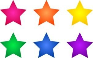Clipart Abstract Colored Stars