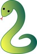 green Snake Black picture