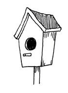 drawn birdhouse