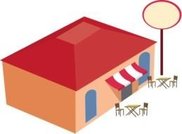 Clipart of cafe Building