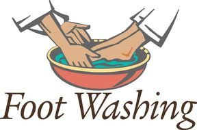 Clipart of the foot Washing