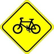 Watch For Bicycles Sign At Clkercom Vector Online clipart