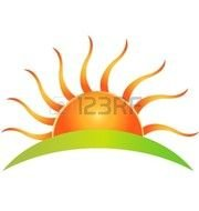 Clipart of golden sunrise
