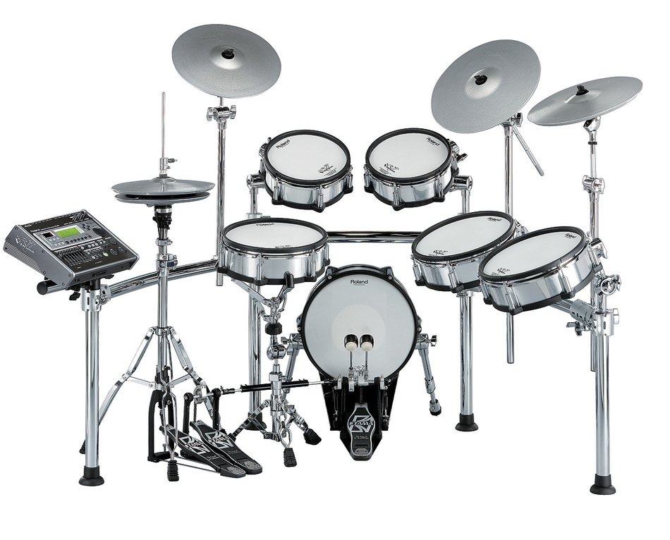 isolated drum kit