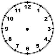 clock face without arrows