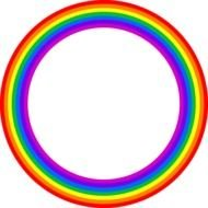 rainbow circle as a graphic image