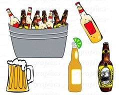 Clip Art of the alcohol cocktails