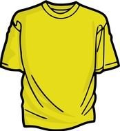 painted yellow t-shirt