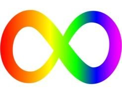 color infinity sign on a white background