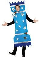 man in a christmas costume as a picture for clipart