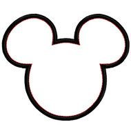 Mickey Mouse Head Silhouette drawing