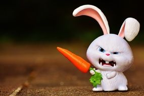 Angry Bunny with carrot