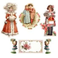 Children doll Stickers drawing