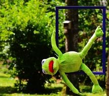 hanging soft kermit