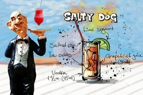 recipe of the cocktail salty dog