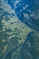Mountain Glaciers, aerial view, switzerland