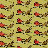 birds pattern on texture