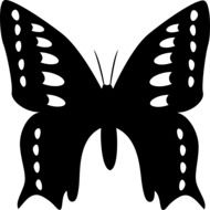 black silhouette of a butterfly