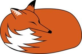 clipart of the orange and white fox