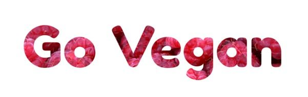 """Go Vegan"" sign clipart"
