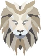 lion graphic drawing