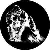 Primate as a graphic illustration