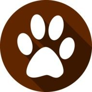 clipart of the paw print Icon
