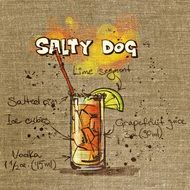 drawing a cocktail glass salty dog