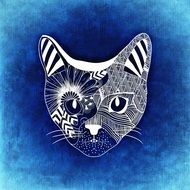 Cat abstract clipart