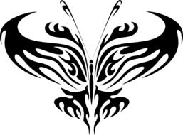 abstract silhouette of a butterfly
