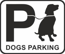 dog parking sign drawing